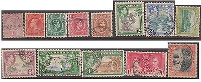 (JF-8) 1889-1943 Jamaica mix of 14 stamps 1d to 6d