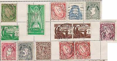 (JF-17) 1922-55 Ireland mix of 20stamps ½d to 1/-