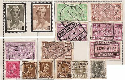 (JF-31) 1900-35 Belgium mix of 25stamps 10c to 50F (A)