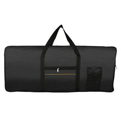 61Key Music Piano Keyboard Carry Case Bag 420D Waterproof Oxford Cloth Black