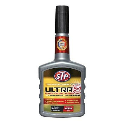 STP Ultra 5in1 PETROL Injector Fuel System Cleaner Treatment Power Booster 400ml