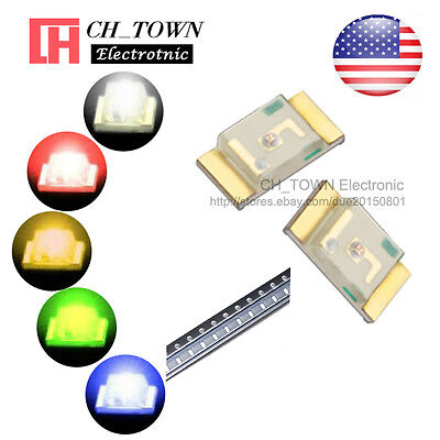 5 Lights 100PCS 1206 (3216) SMD SMT White Red Yellow Green LED Diodes Mix Kits