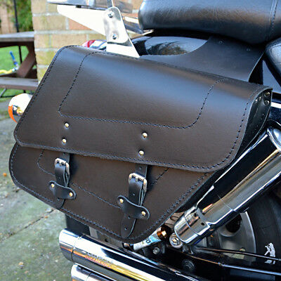 Motorcycle Leather Saddlebags Panniers Triumph Thunderbird America C28A