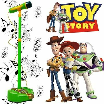 Disney Toy Story Woody Educational Microphone Voice Tube Toy Music Sound Light