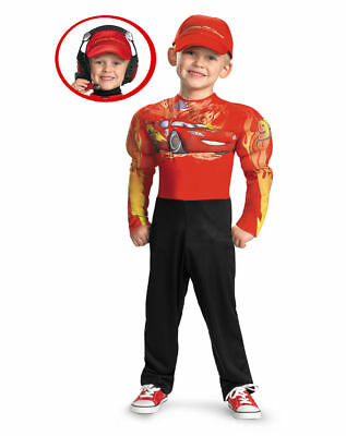 CARS Lightning McQueen BOYS COSTUMES w/headset + friends of Mcqueen lot 135