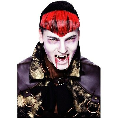 Gothic Widows Peak Red or BLACK Hairpiece MANY COSTUMES accessories