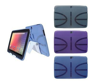 View Stand Holder + TPU Gel Skin Case Cover for Google Nexus 10 Tablet