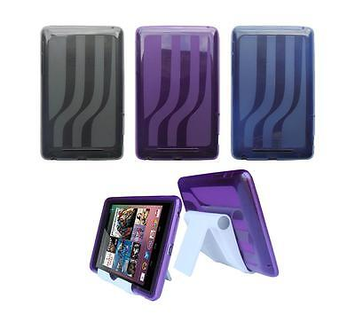 View Stand Holder + TPU Gel Skin Case Cover for ASUS Google Nexus 7 1st Gen