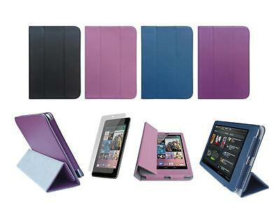 Folio Smart Cover Case and Screen Protector for Google Nexus 7 Tablet 1st Gen