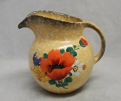 Ditmar AG Czech Pottery Floral Pitcher