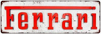 Ferrari Vintage Look Reproduction Metal 6x18 Sign 6180264