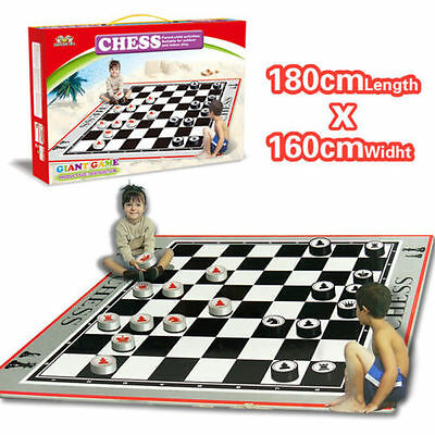 New Chess Mat Carpet Family Game Set Kid Educational Play Rug Baby Activity Toy
