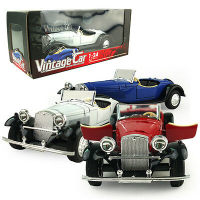 1:24 Vintage Car DieCast Model Car Kid Pull Back Friction Toy Die Cast Child