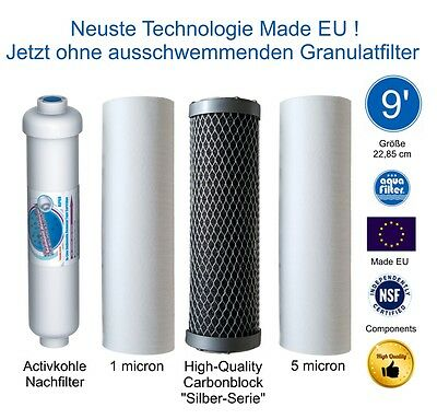 Filter Set Ultimate PLUS Osmoseanlagen EUROPE PRO Modelle 9 Zoll nach Mai 2012