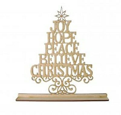 Creative Expressions Laser Cut MDF Christmas Tree Greetings CEMDFGRE Phil Martin