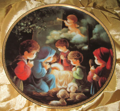 STUNNING Precious Moments Bible Story COME LET US ADORE HIM Collector Plate