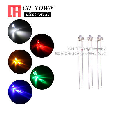 5Lights 100PCS 1.8mm Water Clear LED Diodes White Red Green Blue Mix Kits