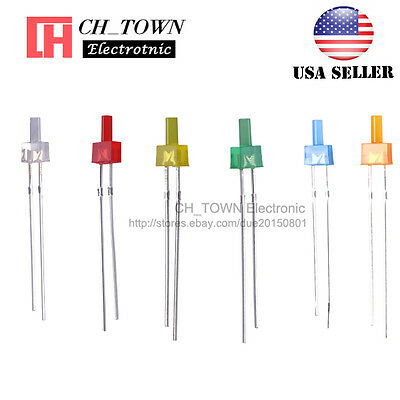 120Pcs 6Lights 2mm Flat Top Diffused LED Diodes White Red Blue Green Mix Kits