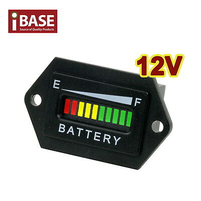 12V Battery Indicator Monitor Status Charge Led Digital Meter Gauge Condition