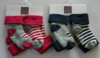 MELTON Stoppersocken, ABS Socken, Antirutsch-Socken, pink oder marine 2er Pack,