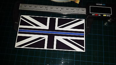 Thin Blue Line Police Union Jack black white blue decal sticker honour support