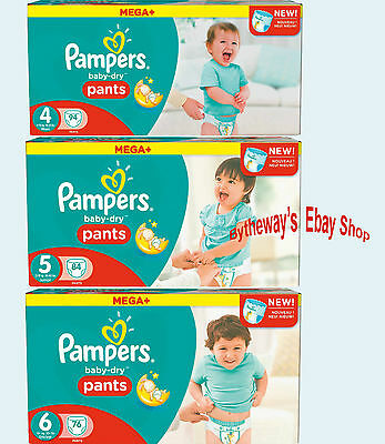 Pampers Baby Dry Pants (Various Sizes)