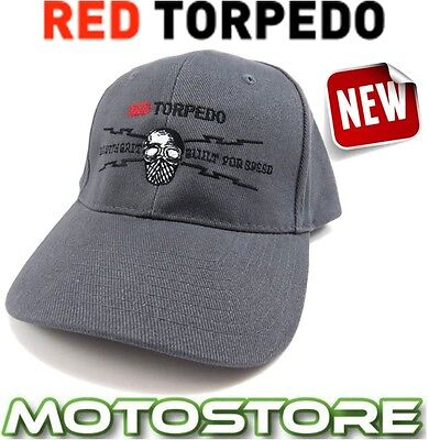 Red Torpedo Gear With Grit Skip Cap Hat Genuine Official Guy Martin Graphite Tt