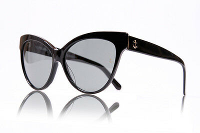 New Retro Womens Mens HEPBURN Sunglasses 100% UV Mightnight Black