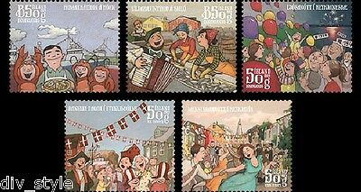 Town Festivals II set of 5 stamps mnh 2014 Iceland #1341-5