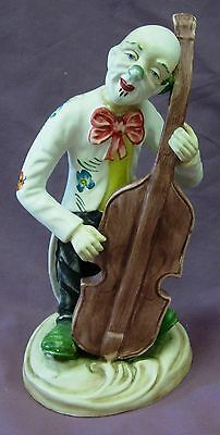 Vintage Norlean Clown With Large Violin Figurine Made In Portugal
