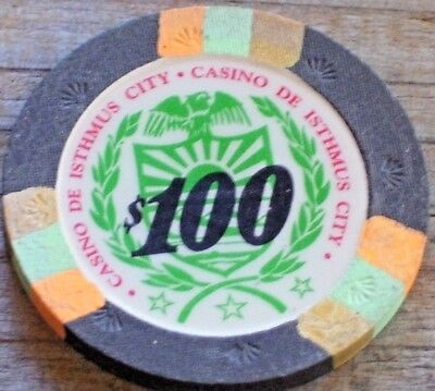 $100 GAMING CHIP FROM CASINO de ISTHMUS CITY