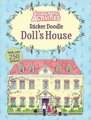 Sticker Doodle Doll's House (Scholastic Activities), New,  Book