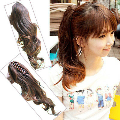 I Love Hair Clip On  Curly PonyTail Hair Extensions