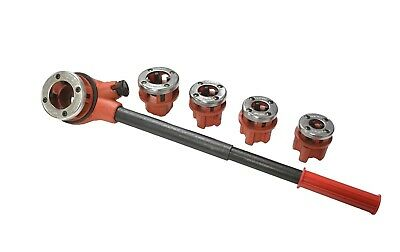 "5 Manual Pipe Threading Die Set  3/8"", 1/2"", 3/4"", 1"" and 1-1/4"" NPT Dies"