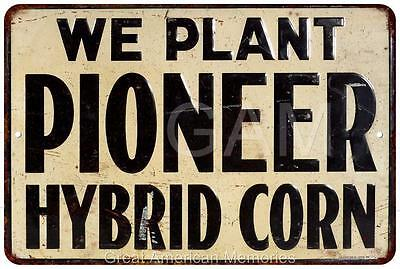 Pioneer Hybrid Corn Vintage Look Reproduction Metal Sign 8x12 8121760