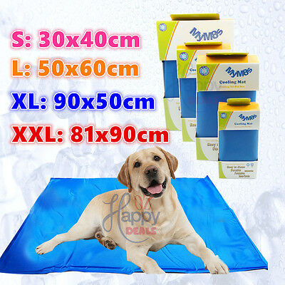 New Dog Cat Cool Bed Gel Mat Non-Toxic Cooling Summer Bed Pad 4 Sizes Large XXL