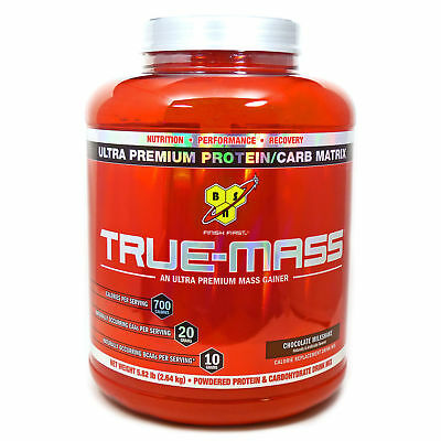 BSN True Mass Weight Gainer 5.82 Lb - All Flavors to Choose  - Free Shipping