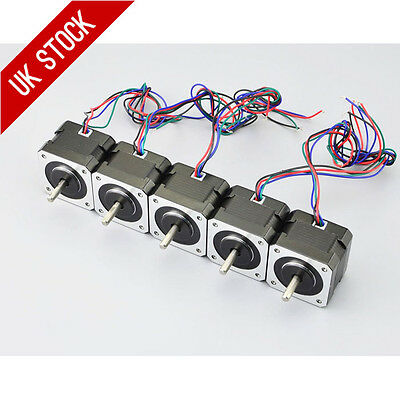5PCS 12V 0.4A 26Ncm OSM Nema 17 Stepper Motor 4-lead CNC/3D Printer