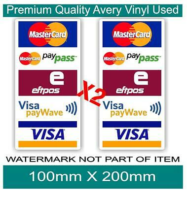 Eftpos Visa Mastercard Pay Wave Pay Pass Decal Sticker Shopfront Store Shopping