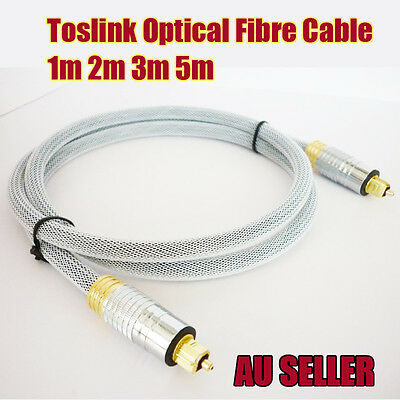 1~5m New Ultra Premium Toslink Optical Fibre Cable Gold Plated 5.1 Digital Audio