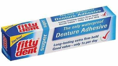 FITTYDENT Denture Adhesive Dental Care Teeth Cream ORIGINAL 40g. FREE SHIPPING