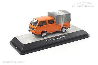 VW T3a Doppelkabine Pritsche - orange - 1 of 750 - Premium ClassiXXs - 1:43