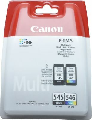 Original Druckerpatronen Canon PG-545 black + CL-546 color Pixma MG 2550 2950