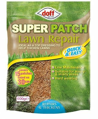 New Doff  Super Lawn Patch Repair Kit Garden Weed Control Lawn/Grass Seed 600g