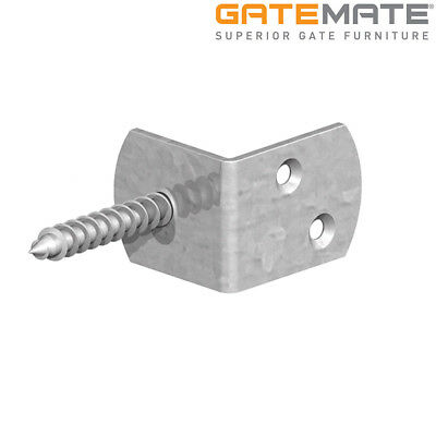 10x Fence PANEL Galvanised Screw In Clips  | L Shaped | Post Brackets 40x40x30mm