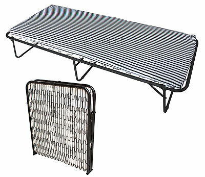 FoxHunter Metal Single Folding Guest Visitor Compact Bed With Mattress Fold Away