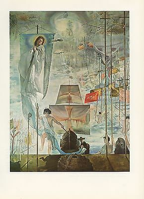 "1976 Vintage SALVADOR DALI ""DISCOVERY OF AMERICA CHRISTOPHER COLUMBUS Lithograph"