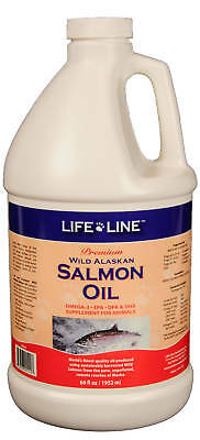 Life Line Wild Alaskan Salmon Oil f/pets, dogs & cats, FRESH, Premium 1/2 gallon