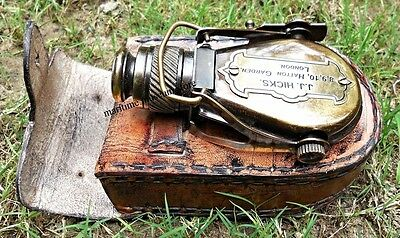 Antique-Style-Ships Pocket-Monocular-with-Leather-Box.