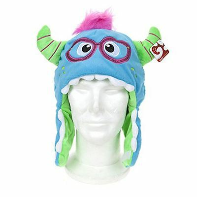 Funky Novelty Winter Warmer Fuzzy Monster Hat With Fun Warm Gloves Kids Adult